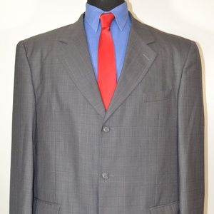 Zandello 48L Sport Coat Blazer Suit Jacket Gray Pl